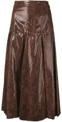 MSGM flared midi skirt