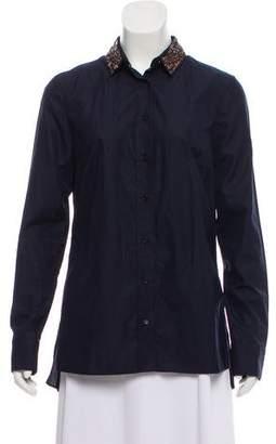 Akris Punto Embellished Button-Up Blouse
