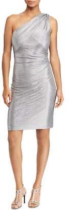 Ralph Lauren Metallic One-Shoulder Dress