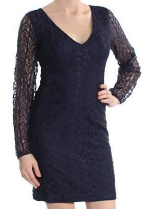 GUESS Women's Floral Mix LACE Dress