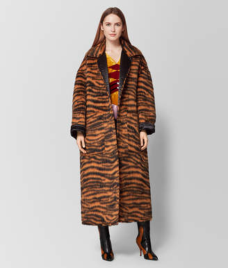 Bottega Veneta ORANGE/NERO WOOL/SATIN COAT