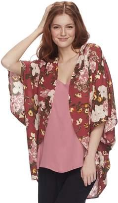 Miss Chievous Juniors' Floral Poncho Top