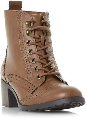 Head Over Heels Pandoraa Brogue Low Block Ankle Boots