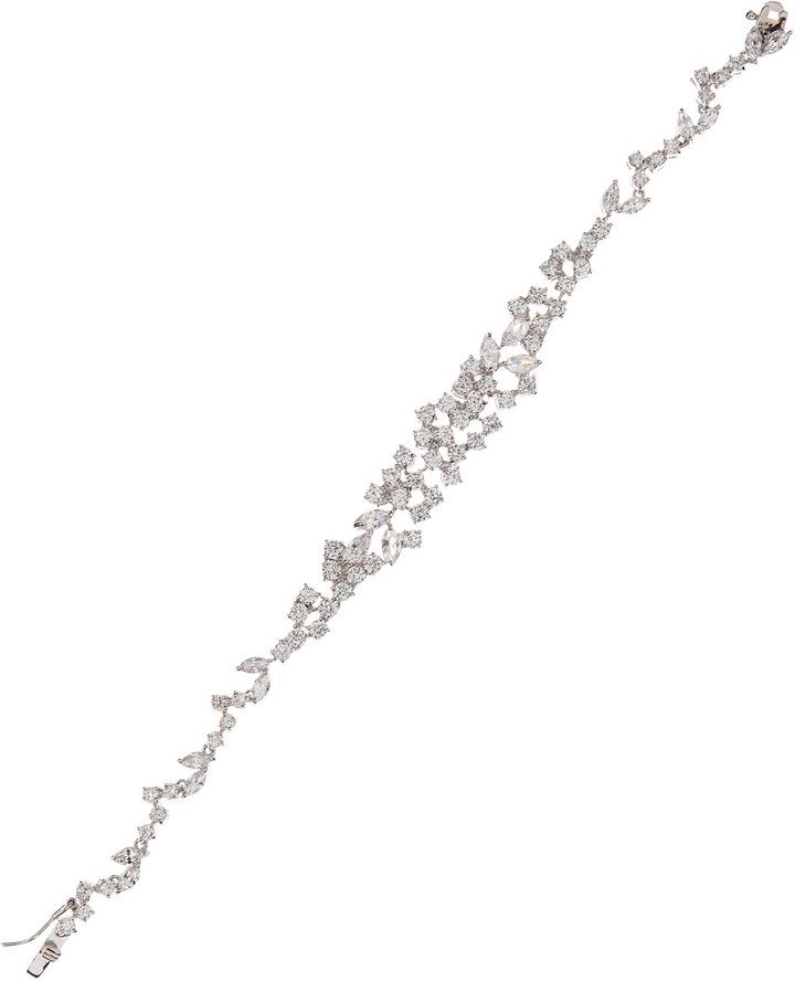 Kenneth Jay Lane CZ by Cubic Zirconia Mini Mosaic Bracelet