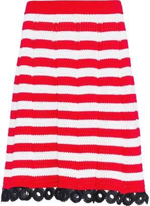 Miu Miu crochet straight skirt