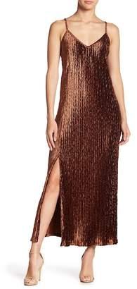 Moon River Velvet Maxi Dress
