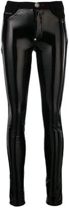 Philipp Plein latex-effect jeggings