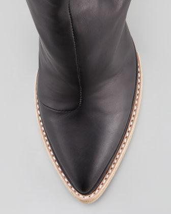 Jeffrey Campbell National Block-Heel Leather Bootie (Stylist Pick!)