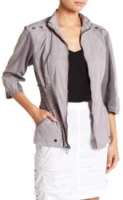 XCVI Claude 3/4 Sleeve Mock Neck Jacket
