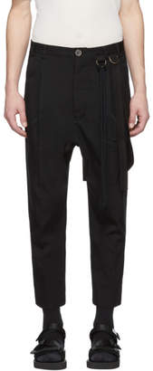 Song For The Mute Black Single Pleated Trousers