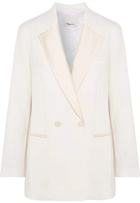 3.1 Phillip Lim Double-breasted Satin-trimmed Crepe Blazer - Ivory
