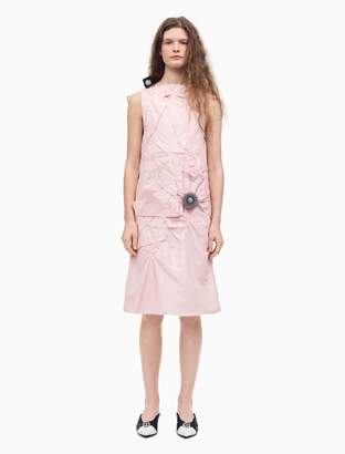 Calvin Klein Crushed Silk Couture Inspired Dress in Pink