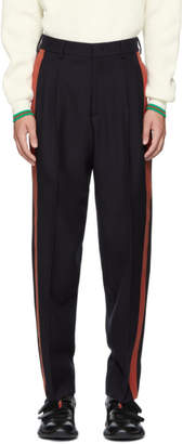 Stella McCartney Black and Red Julian Trousers