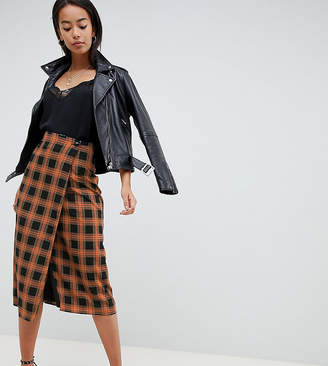 b5471ae856a6a Fashion Union Tall Midi Pencil Skirt In Check