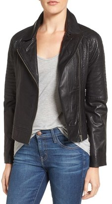 Women's Bb Dakota Stafford Washed Leather Jacket $368 thestylecure.com