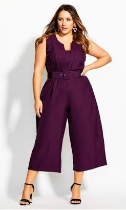 City Chic Citychic Veronica Jumpsuit - mulberry