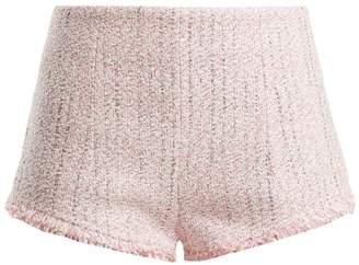 ALESSANDRA RICH High-rise tweed shorts