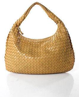 Bottega VenetaBottega Veneta Beige Intrecciato Single Strap Hobo Shoulder Handbag
