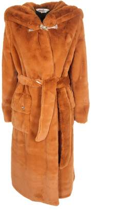 Golden Goose Oversized Hooded Fur Coat