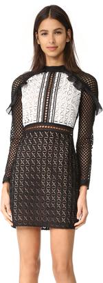 Self Portrait Geometric Mini Dress $435 thestylecure.com