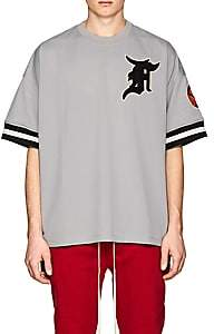 Fear Of God Men's Athletic Mesh Oversized Baseball Jersey-Light Gray