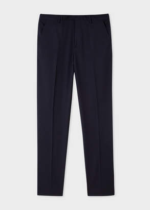 Paul Smith Men's Slim-Fit Navy Wool 'A Suit To Travel In' Pants