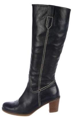 Gabor Leather Round-Toe Boots