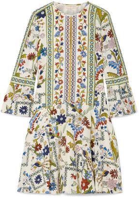 5e8dd9a9010ccb Tory Burch Daphne Printed Silk Mini Dress - Cream