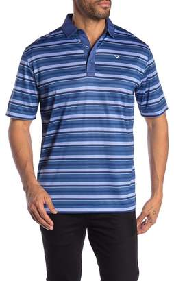 Callaway GOLF Colorblock Stripe Short Sleeve Polo