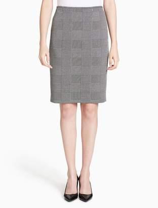 Calvin Klein glen plaid skirt