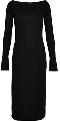 Helmut Lang Cutout Wool-Blend Jersey Dress