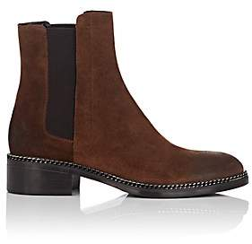 Barneys New York Women's Chain-Embellished Suede Chelsea Boots - Brown