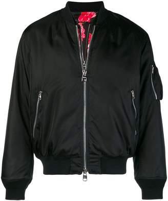 Alexander McQueen zipped bomber jacket