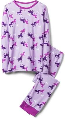 Crazy 8 Crazy8 Unicorn 2-Piece Pajama Set