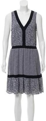 MICHAEL Michael Kors Sleeveless Printed V-Neck Knee-Length Dress