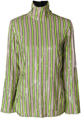 MSGM striped sequin blouse