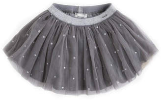 Mayoral Grey-Star Glitter Skirt