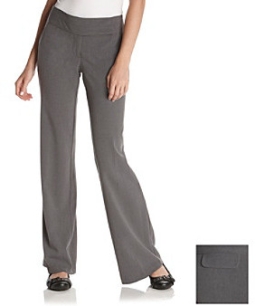 Sequin Hearts Junior's Gray Double Extended-Tab Pants