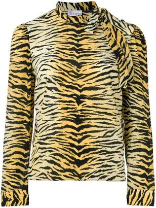 RED Valentino tiger printed blouse