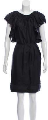 Lanvin Silk Ruffled Dress