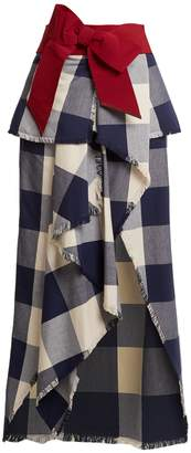 JOHANNA ORTIZ El Crisol cotton-plaid maxi skirt