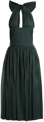 Rochas Tie-neck stretch-cotton dress