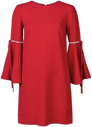 Oscar de la Renta 3/4 flutter sleeved dress