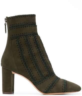 Alexandre Birman stitch detail ankle boots