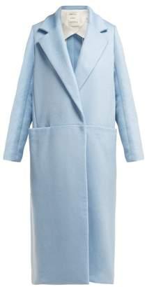 Maison Rabih Kayrouz Long Line Cashmere Coat - Womens - Light Blue