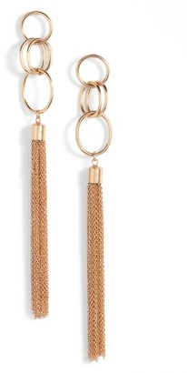 Women's Ettika Chain Tassel Drop Earrings $40 thestylecure.com