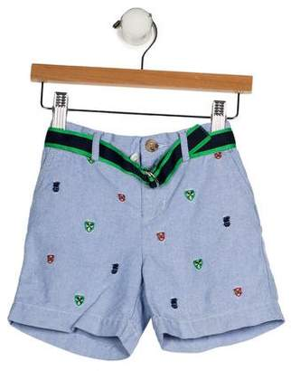 Ralph Lauren Boys' Embroidered Belted Shorts