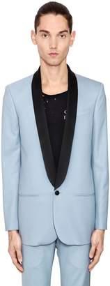 Wool Grain De Poudre Tuxedo Jacket