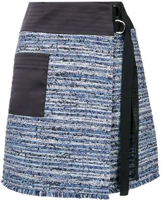 Karl Lagerfeld bouclé wrap skirt