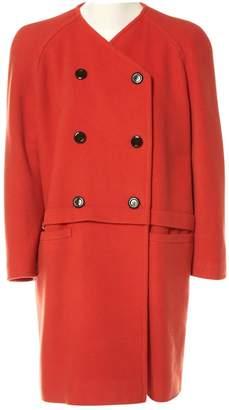 Valentino Orange Wool Coats